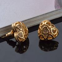 heart 24k gold filled earring joyas