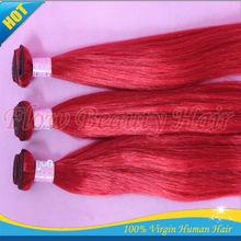 Grade 5a color red 100g/pcs bundles 100% remy human hair extension silk straight brazilian virgin remy hair