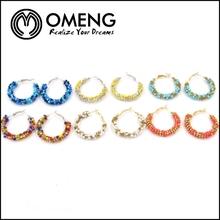 Alibaba China Manufacturer Fashion Blue Seed Bead Earrings