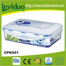 Plastic microwavable vacuum food box to keep food fresh