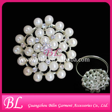 table accessories 50mm pearl and rhinestone napkin rings for weddings