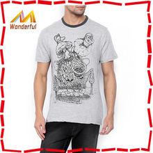 Latest wholesale printed online t shirt shop/100% cotton t shirt 160 grams