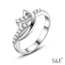 Nice Girls 18K White Gold Plated Diamond Engagement Ring
