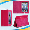 competitive factory price brown stand folio wallet leather case for apple ipad mini film stylus