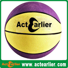 New style official size rubber basketball