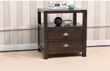 American solid wood nightstand green / black walnut bedroom furniture grade special Ash US05