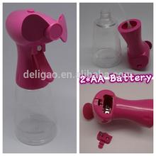 2*AA battery ABS plastic made powerful fan blade portable small battery fan