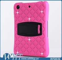 Rose Case for iPad Air Silicone+ PC Starry Crystal Case for iPad 5
