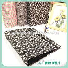 fancy fabric self adhesive sheets photo album