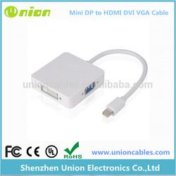 Mini Display Port Thunderbolt to DVI VGA HDMI Adapter for MacBook Air Pro Mac
