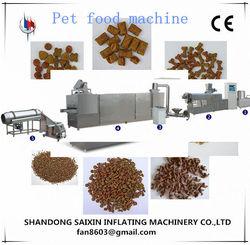 saixin dog food machine double extruder