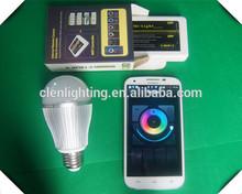 wifi led bulb,led sensor light,hk led light 9W/6W color changing
