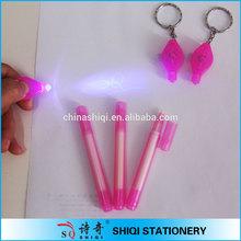 cute portable uv light invisible ink pen