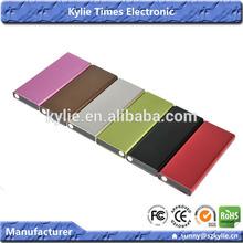 mixed colors capacity 4000mAh usb power bank for samsung