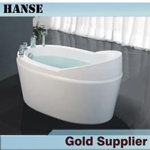 HS-B523 small fancy simple clear acrylic white freestanding bathtub