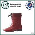 Jardim barato botas de chuva de borracha botas quentes B-808