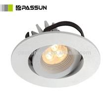 aluminium plum blossom recessed led spotlight 3W