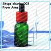 Food grade e liquid childproof tamper cap 15ml antique green glass bottles