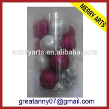 Futian Market Yiwu china high quality glitter christmas round ball ornaments