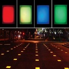 2014 hot sale 5 years warranty 100*100 RGB full color 12v led paving lights led glass brick