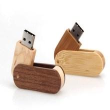 nature wood swivel usb flash disk 512mb - 32gb