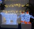 24v/110v/220v exterior atraente animais acrílico led decoração do feriado de magia branca itens de natal atacado