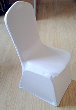 Polyester lycra spandex thick luxury chair cover white