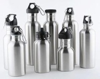 1000ml acrylic custom stainless water bottle with different covers and capacity