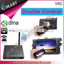 Vissontech V5C hotsales android miracast ios device airplay screen mirroring mirrorbox car dvr gps radar detector