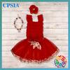 Xmas Kid Clothes 2014 New Arrival Wholesale Children's Boutique Clothing Lace top With Tutu Dress Plus Size Clothing