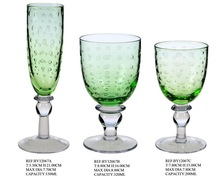 Colored wine glass/glass cup/drinking ware