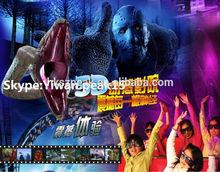 2014 indian market! indoor amusement park equipment 7D cinema theater dinosaur game for children with luxury seat