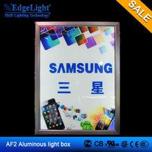 EdgeLight AF2A led silm snap frame light box Aluminum Frame Single Snap classic type