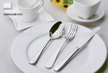 Guangzhou hotel supplies flatware stainless steel tableware steak knife dinner fork and spoon