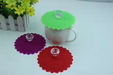 2014 brand new FDA LFGB silicone colorful cup lids short lead time