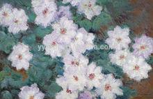 Modern Handmade Wall Art Painting Claude Monet Canvas White Impressionist Flower Oil Painting Flower