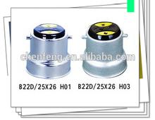 B22D/25x26 AL LAMP CAP