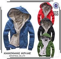 2014 New Men's Plush Thick Warm Hoodie Overcoat Winter Coat Fleece & Men's Cotton Padded Jacket