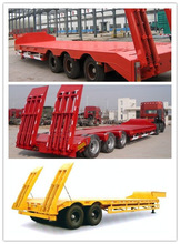 low bed truck trailer