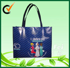 600D polyester fabric with two color mosaic handbags
