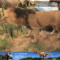 ฉัน- dinoจำลองสัตว์สิงโตรูปปั้นไฟเบอร์กลาสสำหรับสวน