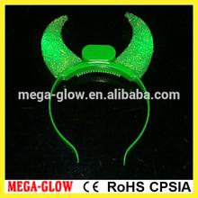newest fashion Led flashing devil horn headband,light up hairband