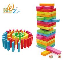 wooden jenga stacking game