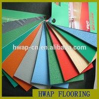 HWAP PVC Vinyl Flooring Roll/pvc sports flooring/Best Price Indoor Anti-slip PVC Sports Flooring In Roll