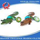 Pvc vinyl animal toys*3D small plastic toy*10 inch Whistle crocodile toys