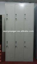 6 compartment high gloss storage cabinet steel locker,office furniture metal lockers