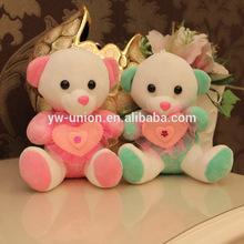 Dressing Up Lovely Plush Mini Teddy bear /Valentine day plush monkey/plush valentine bear gifts