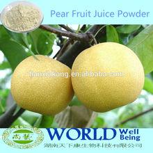 Fábrica 100% Natural seca Druit bebida de polvo de la pera de frutas en polvo / pera jugo en polvo / pera concentrado de jugo