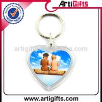 Heart shape cheap custom digital photo keychain