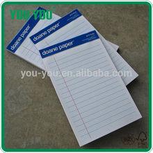 high quality legal pad, school supplies writing pad